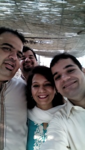 Umair with mother & brothers (Umair on right)