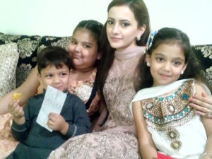 Umair's sister-in-law with nephew & nieces