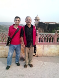Umair with his dad (visiting India)