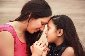 Mother and Daughter in Prayer Ministry Stock Photo - Smaller Copy