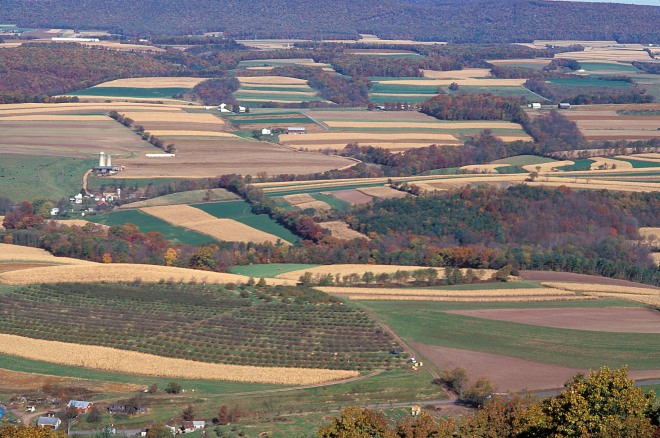 Aerial view of Pennsylvania farmland --Photo courtesy of US Dept. of Agriculture