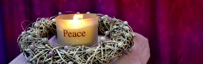 Peace candle and wreath