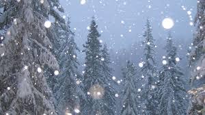 Snow falling 6